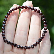Украшения handmade. Livemaster - original item Bracelet natural garnet stone. Handmade.