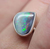 Украшения handmade. Livemaster - original item Australian opal ring, Northern lights, silver. Handmade.