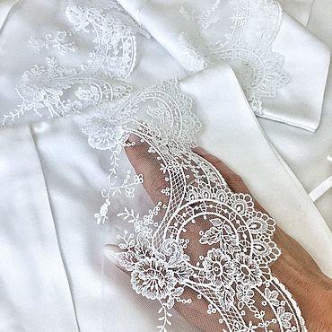 Свадебный салон ручной работы. Ярмарка Мастеров - ручная работа Белое свадебное постельное белье с кружевом. Handmade.