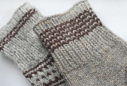 Одежда ручной работы. Ярмарка Мастеров - ручная работа. Купить Носки и подследники теплые вязаные Темный цвет. Handmade.