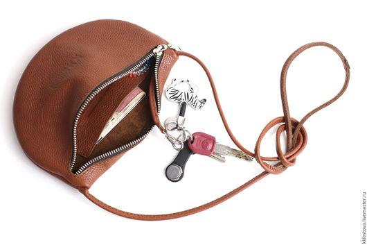 Женские сумки ручной работы. Ярмарка Мастеров - ручная работа. Купить Сумочка через плечо. Handmade. Рыжий, пакет, косметичка