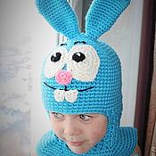 Работы для детей, ручной работы. Ярмарка Мастеров - ручная работа Шапка-шлем «Крош». Handmade.