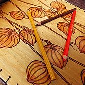 """Для дома и интерьера ручной работы. Ярмарка Мастеров - ручная работа Столик-поднос """"Физалис"""". Handmade."""