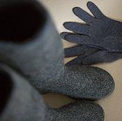 Обувь ручной работы. Ярмарка Мастеров - ручная работа Комплект сапоги и перчатки. Handmade.