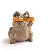 Сувениры и подарки ручной работы. Ярмарка Мастеров - ручная работа Кот шутник из камня. Handmade.