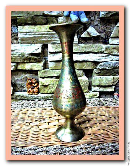 Винтажные предметы интерьера. Ярмарка Мастеров - ручная работа. Купить Медная ваза. Handmade. Золотой, ваза, винтажная ваза