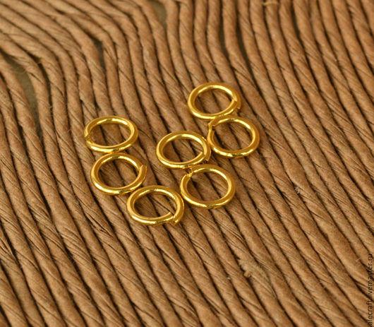 Для украшений ручной работы. Ярмарка Мастеров - ручная работа. Купить Кольца разъемные 7мм золото 20шт. Handmade. Золотой