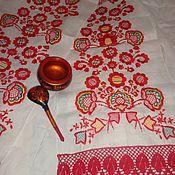 Русский стиль handmade. Livemaster - original item Embroidered towel - rushnyk. Wedding. Handmade.