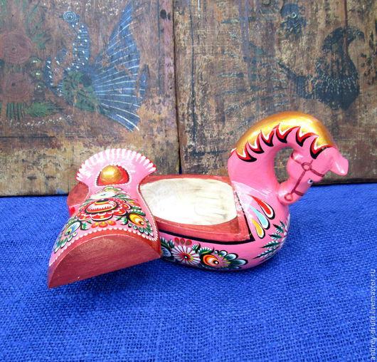 Посуда ручной работы. Ярмарка Мастеров - ручная работа. Купить Солонка Розовая лошадка.. Handmade. Для кухни, старинная посуда