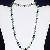 Украшения handmade. Livemaster - original item Jewelry set made of natural fluorite. Handmade.