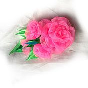 Украшения ручной работы. Ярмарка Мастеров - ручная работа Заколка-зажим Розовая мечта. Handmade.