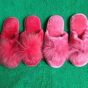 handmade. Livemaster - original item Women`s slippers from mouton. Handmade.