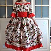 Одежда handmade. Livemaster - original item Boho long summer linen dress