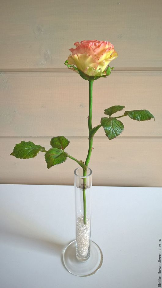Букеты ручной работы. Ярмарка Мастеров - ручная работа. Купить Роза Эсперанс из полимерной глины (холодный фарфор). Handmade. Роза
