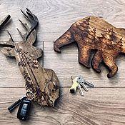 Ключницы ручной работы. Ярмарка Мастеров - ручная работа Ключницы с пирографией. Handmade.