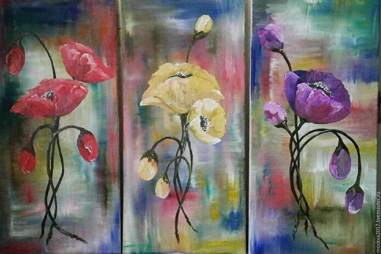 Картинки триптих цветы, годик тимуру
