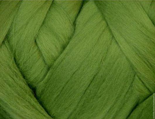 Валяние ручной работы. Ярмарка Мастеров - ручная работа. Купить Шерсть для валяния меринос 18 микрон цвет Лист (Leaf). Handmade.