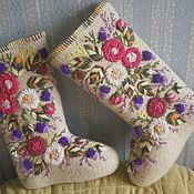 Обувь ручной работы. Ярмарка Мастеров - ручная работа Валенки красивые. Handmade.