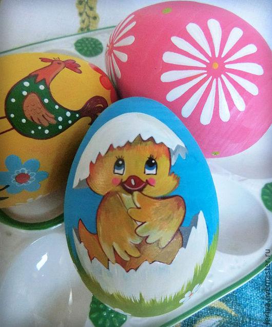 Яйца ручной работы. Ярмарка Мастеров - ручная работа. Купить Пасхальные яйца. Handmade. Пасха, дерево