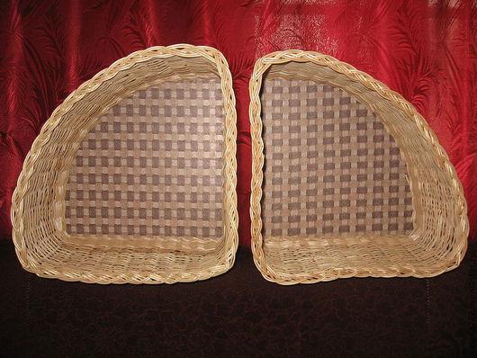 Baskets & Boxes handmade. Livemaster - handmade. Buy Basket - box of vines Triangular.Beige, corner shelf, netting