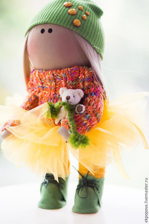 Куклы тыквоголовки ручной работы. Ярмарка Мастеров - ручная работа. Купить КУКЛА-МАЛЫШКА принесет радость в ваш дом.... Handmade.