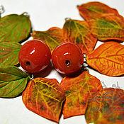 """Материалы для творчества handmade. Livemaster - original item Set of beads """"Leaves"""". Handmade."""