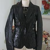Винтаж ручной работы. Ярмарка Мастеров - ручная работа Куртка из натуральной лаковой кожи, размер 46 русский. Handmade.
