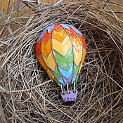 """Украшения ручной работы. Ярмарка Мастеров - ручная работа Брошь с горячей эмалью """" Воздушный шар"""". Handmade."""