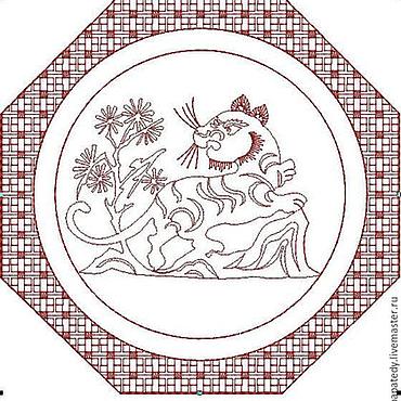 Дизайн и реклама ручной работы. Ярмарка Мастеров - ручная работа тигр и восточный орнамент, сашико, дизайн для машинной вышивки. Handmade.