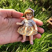 Куклы и игрушки handmade. Livemaster - original item A little doll for a girl.Buy a doll.Mini doll.On a journey.Doll. Handmade.