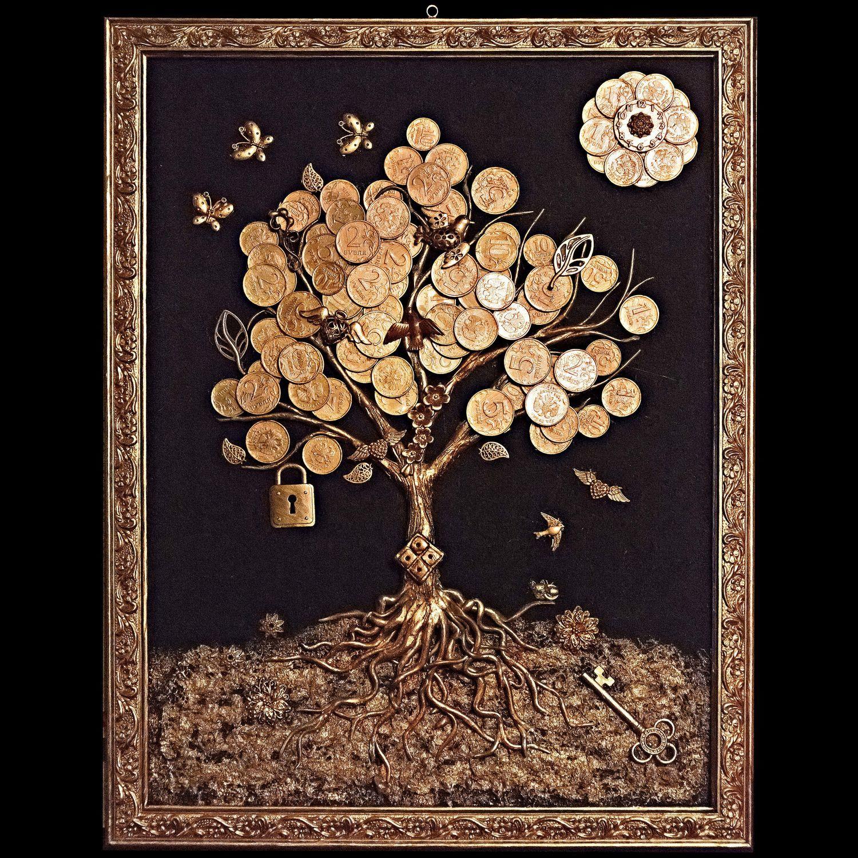 Картина денежное дерево из монет своими руками мастер 24