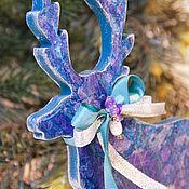 """Подарки к праздникам handmade. Livemaster - original item Авторская интерьерная игрушка """"Олененок по имени """"Зебра"""". Handmade."""