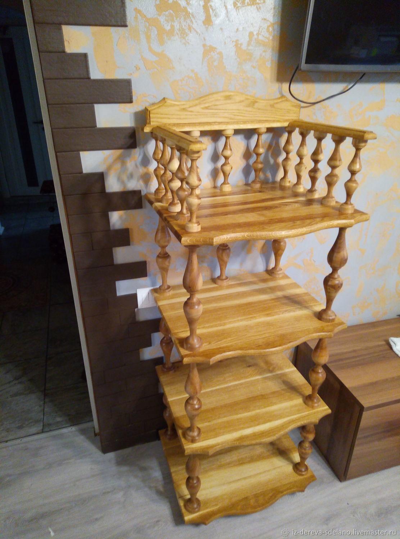 Деревянная этажерка с открытыми полками, Стеллажи, Чертково,  Фото №1