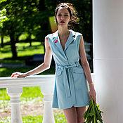 Одежда ручной работы. Ярмарка Мастеров - ручная работа Платье-жилет с английским воротником. Handmade.