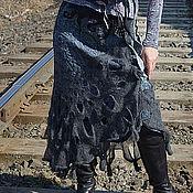 "Одежда ручной работы. Ярмарка Мастеров - ручная работа валяная юбочка ""Фея серебристых туманов"". Handmade."