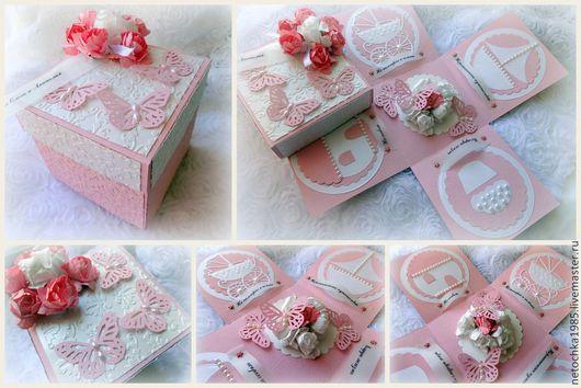 Подарки на свадьбу ручной работы. Ярмарка Мастеров - ручная работа. Купить Свадебный денежный подарок в волшебной коробочке. Handmade. Розовый
