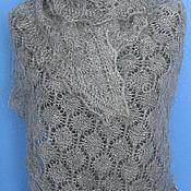 Аксессуары handmade. Livemaster - original item 237 down gray scarf knitted shawls wraps accessories. Handmade.