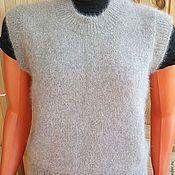 Одежда ручной работы. Ярмарка Мастеров - ручная работа Жилет серый из собачьей шерсти. Handmade.