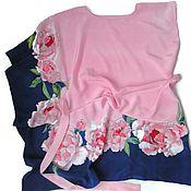 handmade. Livemaster - original item Batik Dress-tunic Tenderness. Handmade.