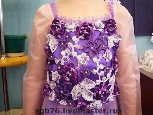 Одежда для девочек, ручной работы. Ярмарка Мастеров - ручная работа. Купить Новогоднее платье детское. Handmade. Вязание крючком