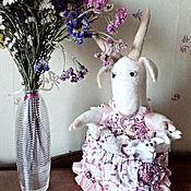 Куклы и игрушки ручной работы. Ярмарка Мастеров - ручная работа Коза и семеро козлят, войлочная композиция. Handmade.