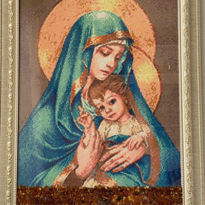 Икона Мадонна с младенцем, Иконы, Москва,  Фото №1