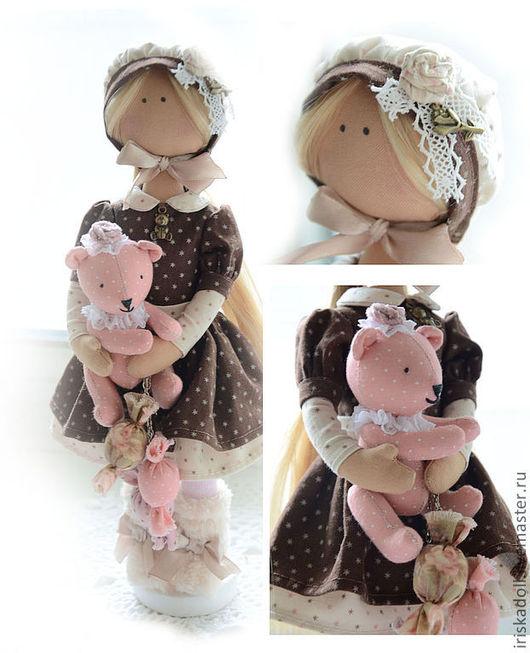 Коллекционные куклы ручной работы. Ярмарка Мастеров - ручная работа. Купить Амели. Handmade. Коричневый, текстильная кукла, отличный подарок
