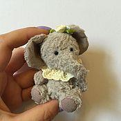 Куклы и игрушки ручной работы. Ярмарка Мастеров - ручная работа Слонёнок тедди. Handmade.