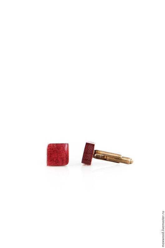 Запонки ручной работы. Ярмарка Мастеров - ручная работа. Купить Запонки из дерева (амарант). Handmade. Запонки, запонки ручной работы