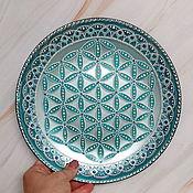 Сувениры и подарки handmade. Livemaster - original item Interior plate. Hand painted. The flower of life.. Handmade.