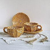 """Чайные пары ручной работы. Ярмарка Мастеров - ручная работа Чайная пара """"Корзиночка"""". Handmade."""