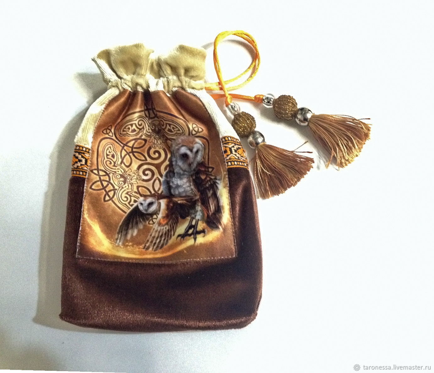Owl pouch for Tarot, oracles, runes, or crystals, Baggie, Noginsk,  Фото №1