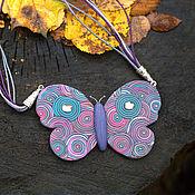 Украшения ручной работы. Ярмарка Мастеров - ручная работа Разноцветная бабочка. Handmade.