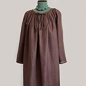 Русский стиль ручной работы. Ярмарка Мастеров - ручная работа Рубаха льняная женская. Handmade.
